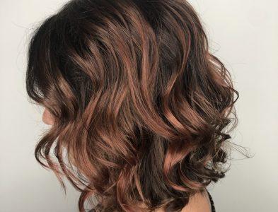 Rosé brown hair color